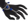 Hand Jewellery Drop Blue Aurora Borealis